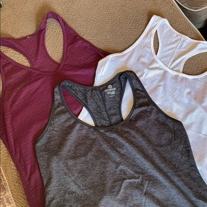 3 Racerback athletic top tank lightweight set lot